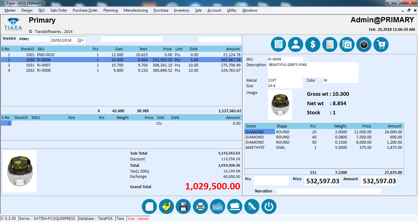 Jewellery POS Retail Software